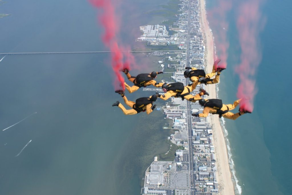 Golden Knights Parachuting